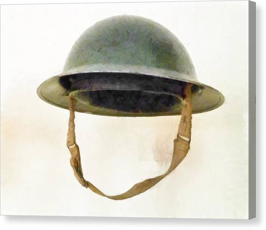 The British Brodie Helmet  Canvas Print