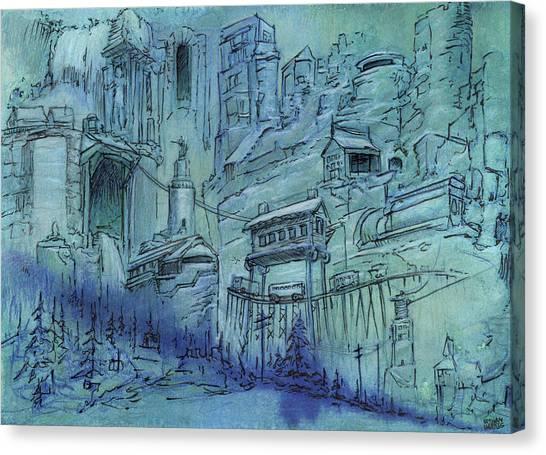 Train Canvas Print - The Broken Gate  by Ethan Harris