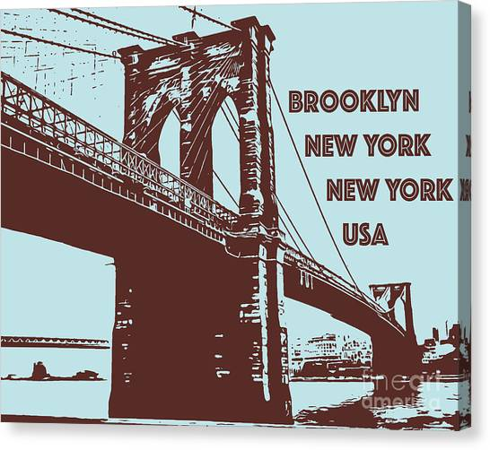 The Brooklyn Bridge, New York, Ny Canvas Print