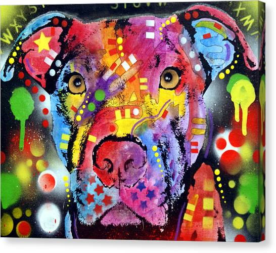 Pit Bull Canvas Print - The Brooklyn Pitbull 1 by Dean Russo Art