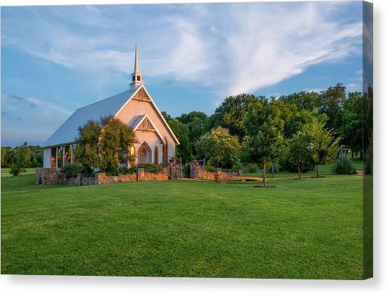 The Brooks At Weatherford Wedding Chapel Canvas Print