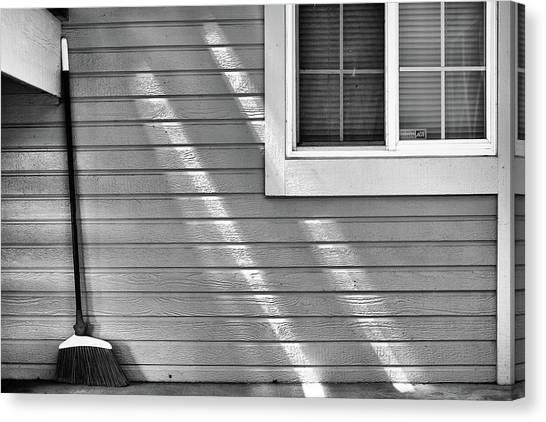 The Broom And Sunbeams Canvas Print