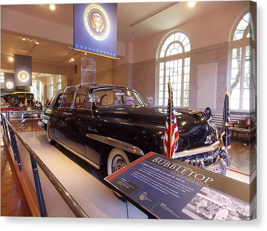 Bubble Cars Canvas Print   The Bubble Top Presidential Limo 1 By Nina  Kindred