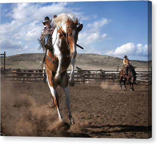 The Buckout At Sombrero Ranch Canvas Print
