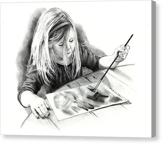 The Budding Artist Canvas Print by Joyce Geleynse
