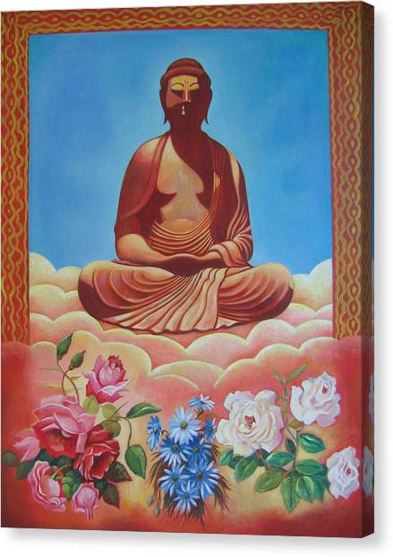 The Budha Canvas Print by Hiske Tas Bain