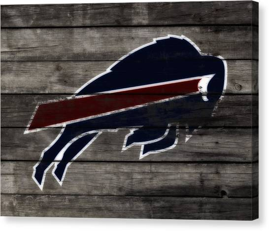 Barry Sanders Canvas Print - The Buffalo Bills W3 by Brian Reaves