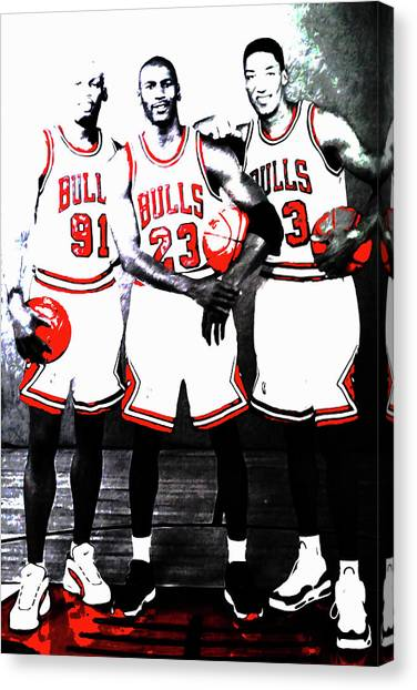 Phoenix Suns Canvas Print - The Bulls Big Three by Brian Reaves