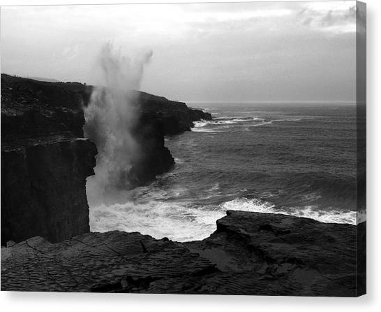 The Cliffs Of Moher Canvas Print - The Burren Way by Aidan Moran
