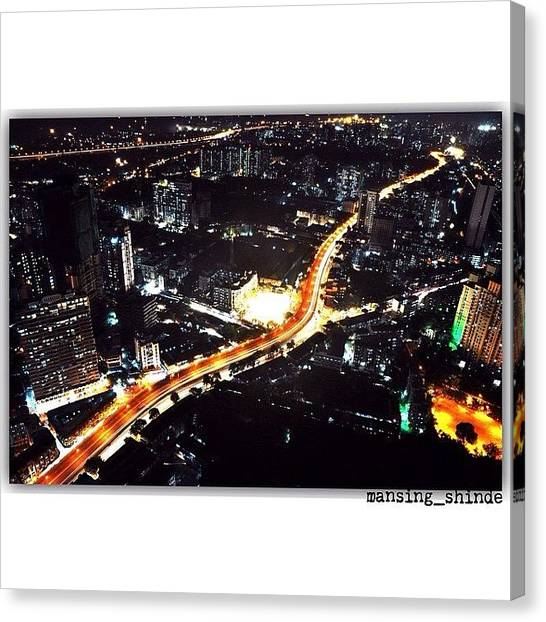 Trucks Canvas Print - The Busy Road Below #oneavighnapark by Indian Truck Driver
