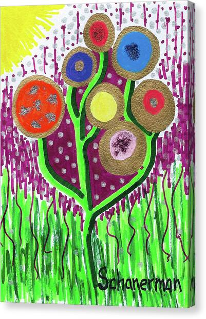 The Button Ball Tree Canvas Print