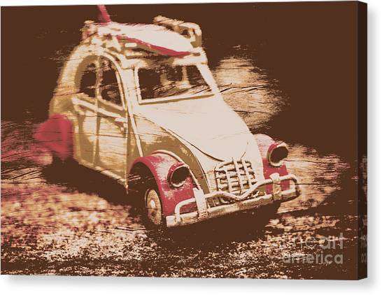 Beach Artwork Canvas Print - The Bygone Surfing Holiday by Jorgo Photography - Wall Art Gallery