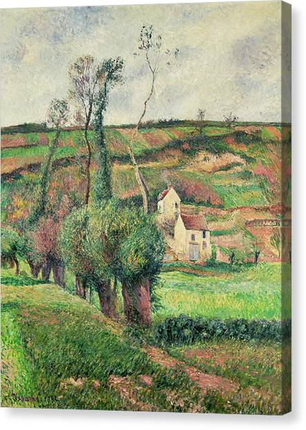 Cabbage Canvas Print - The Cabbage Slopes by Camille Pissarro