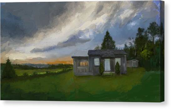 The Cabin On The Hill Canvas Print