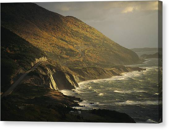 Cabot Trail Canvas Print - The Cabot Trail Winds Its Way by Raymond Gehman