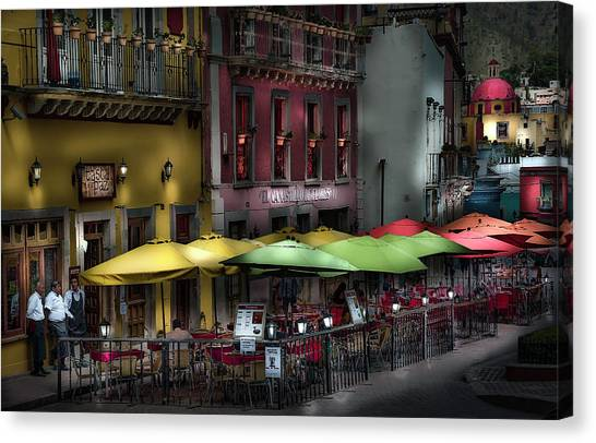 The Cafe At Night Canvas Print