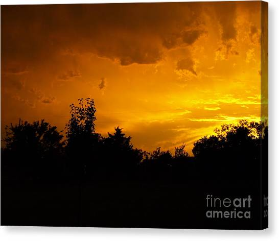 The Calm Before The Storm Canvas Print by Gail Finger