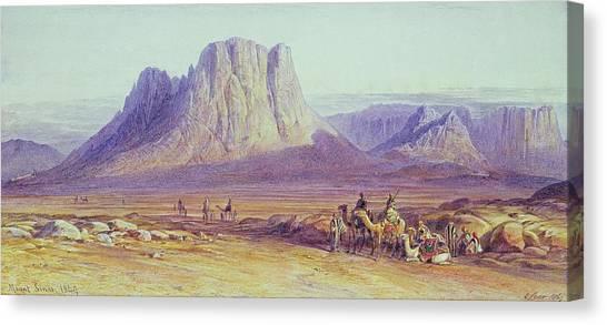 Palestinian Canvas Print - The Camel Train by Edward Lear