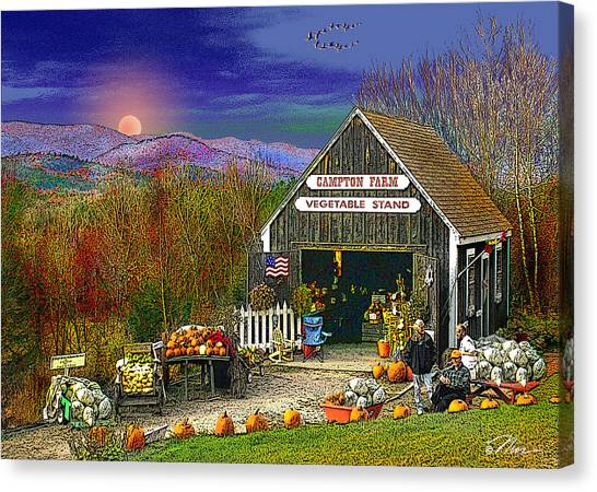 The Campton Farm Canvas Print