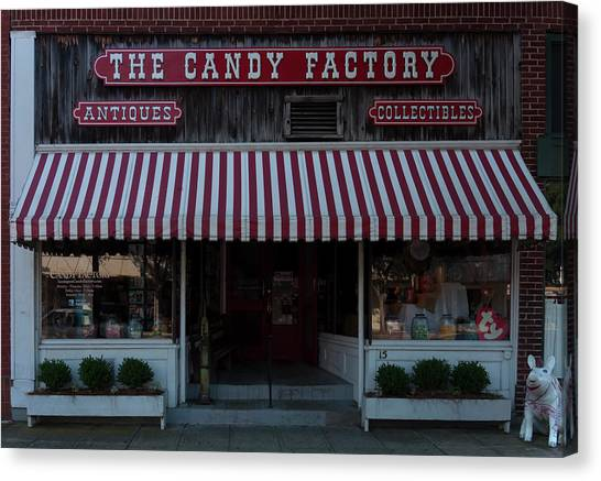 Canvas Print featuring the photograph The Candy Factory by Chris Flees