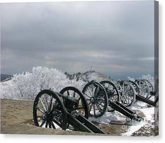 The Cannons At Shipka Canvas Print