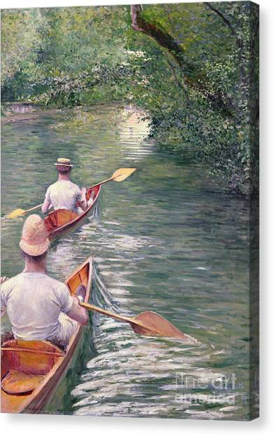 Canoe Canvas Print - The Canoes by Gustave Caillebotte