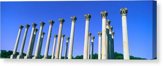 D.c. United Canvas Print - The Capitol Columns Of The United by Panoramic Images