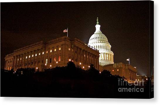 The Capitol Canvas Print by Mark Lemon