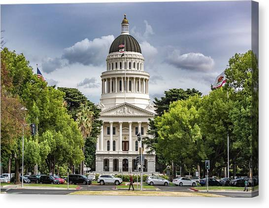 Sacramento State Canvas Print - The Capitol by Robin Mayoff