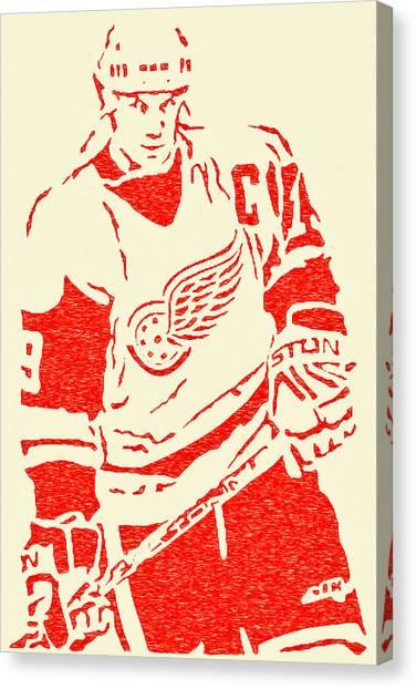 Steve Yzerman Canvas Print - The Captain - Steve Yzerman by Michael Bergman