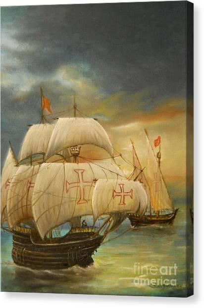 The Caravel Canvas Print