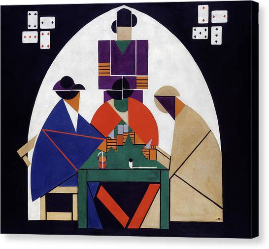 De Stijl Canvas Print - The Cardplayers by Theo van Doesburg