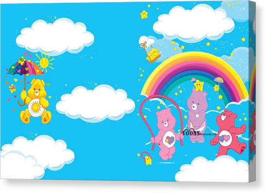 Care Bears Canvas Print - The Care Bears by Barbara Elvins