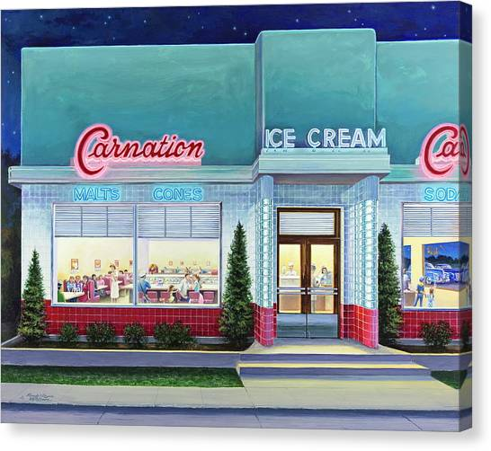 The Carnation Ice Cream Shop Canvas Print