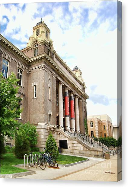 The Carnegie Library Canvas Print by Debra Millet