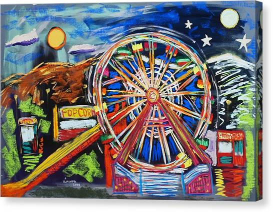 The Carnival Concoction Canvas Print by Albert  Almondia