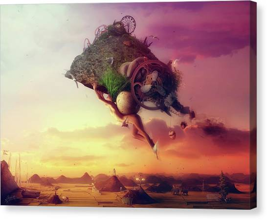 Flying Canvas Print - The Carnival Is Over by Mario Sanchez Nevado