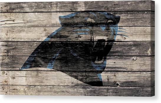 Cam Newton Canvas Print - The Carolina Panthers Wood Art by Brian Reaves