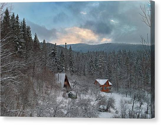 The Carpathian Chalet. Sheshory, 2010. Canvas Print