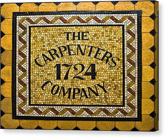 Philadelphia Union Canvas Print - The Carpenters Company by Stephen Stookey
