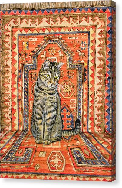 Persians Canvas Print - The Carpet Cat by Ditz