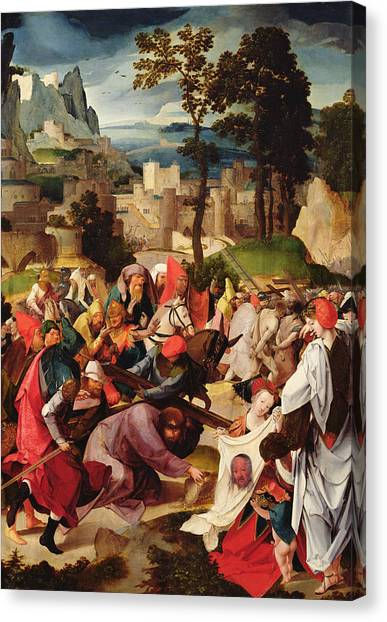 Messiah Canvas Print - The Carrying Of The Cross by Master of the Repudiation of Hagar