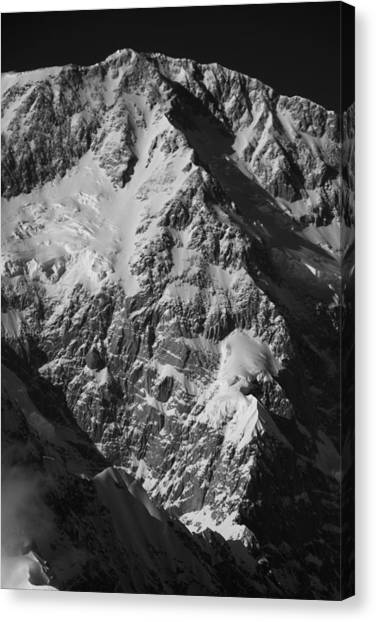 The Cassin Ridge On Denali Canvas Print by Alasdair Turner