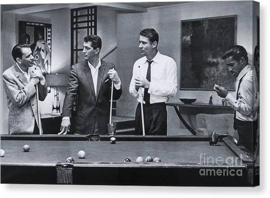 Frank Sinatra Canvas Print - The Cast Of Ocean's 11 by The Titanic Project