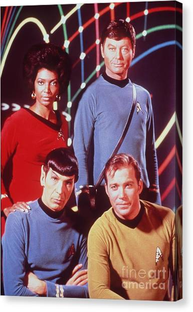 Spock Canvas Print - The Cast Of Star Trek by The Titanic Project