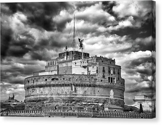 The Castle Of Sant'angelo In Rome Canvas Print