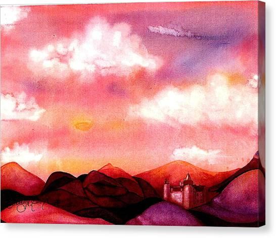 The Castle Canvas Print by Rebecca Tacosa Gray