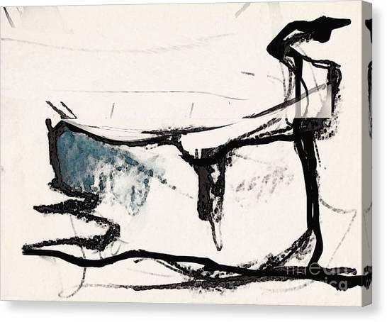 The Cat Canvas Print by Airton Sobreira