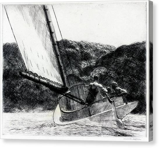 The Cat Boat Canvas Print