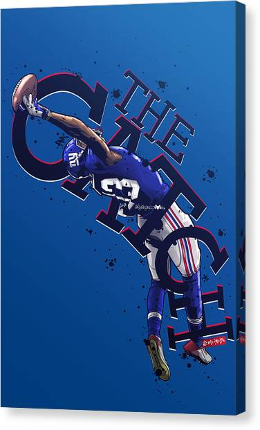 Odell Beckham Jr Canvas Print - The Catch by Akyanyme
